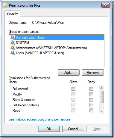 security-permissions