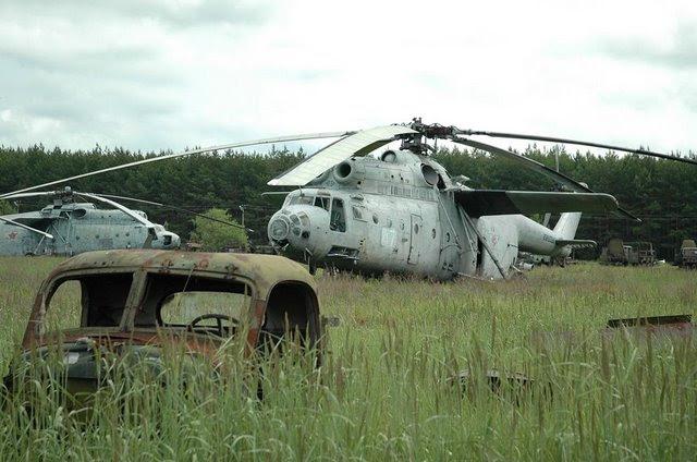 Abandoned Russian army scrap metal 8
