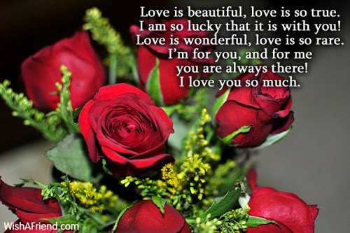 Love Is Beautiful Love Is So True I Love You Poem