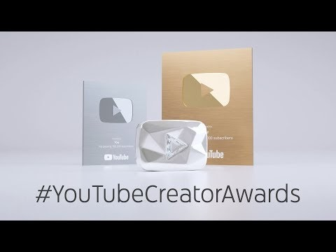 Types of YouTube Creator Awards given to YouTubers
