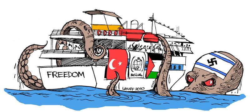 Kartun Konflik Israel-Palestina(Carlos Latuff)