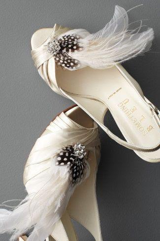 bridal shoes plume