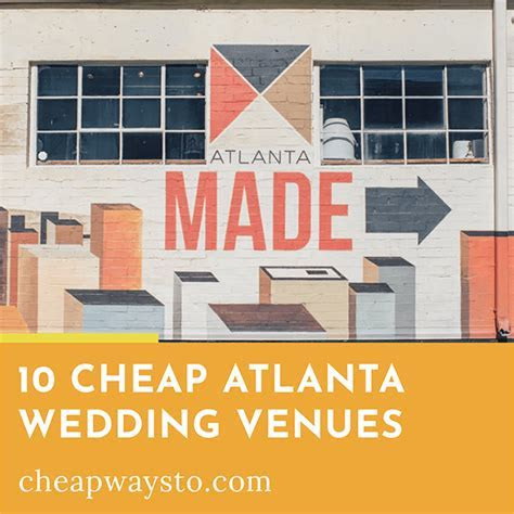 10 Cheap Atlanta Wedding Venues ? Cheap Ways To