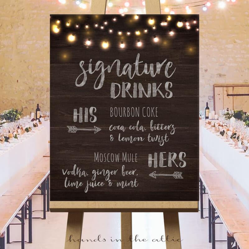 Signature Drink Wedding Ideas - best menu template design