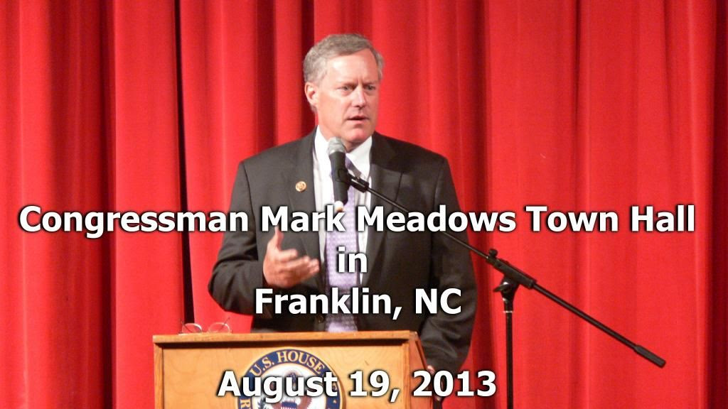 Mark Meadows Town Hall  Photo ©2013 by Bobby Coggins
