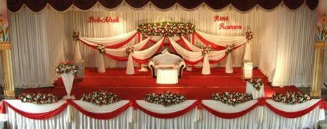 Elegant American Wedding Stage Decoration   Creative Maxx