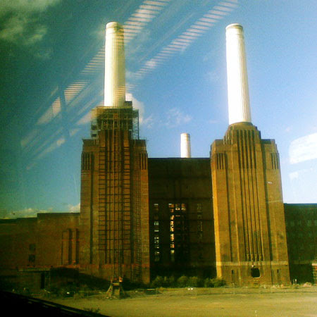 battersea power station, from the train into victoria