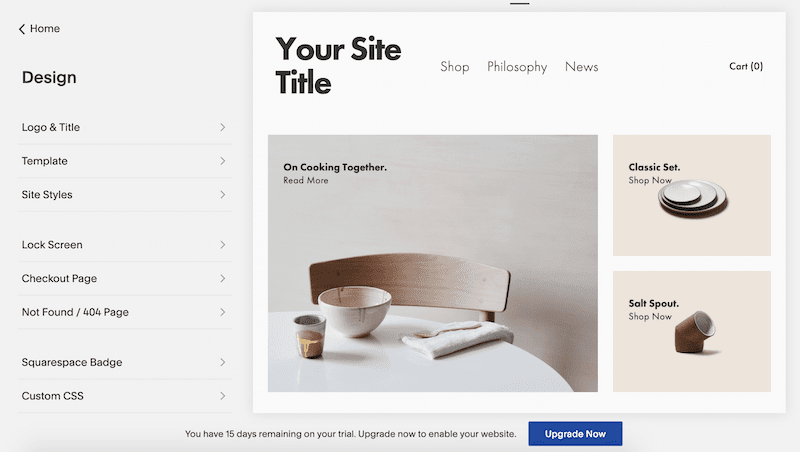 How to edit your Squarespace store