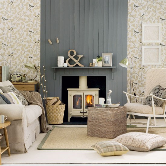 Neutral country living room | Living room decorating ideas | Living room | Ideal Home | IMAGE | Housetohome.co.uk