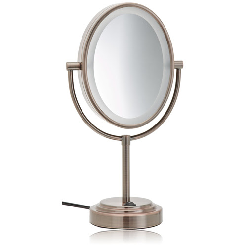 Conair BE47BR Oiled Bronze 1X/7X Lighted Makeup Mirror ...