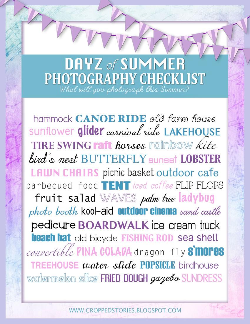 Days of Summer Photography Checklist
