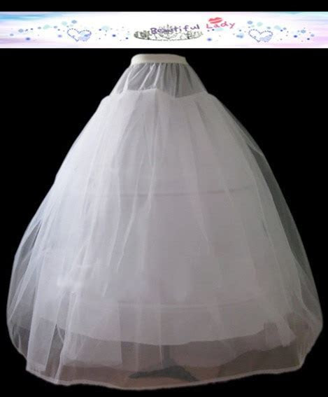 wedding accessories ball gown 3 hoop 1 tulle layer