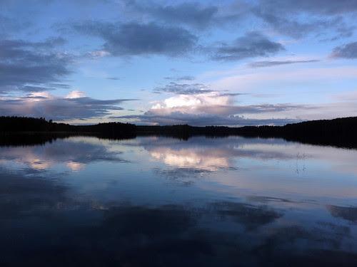 Dusk lake view