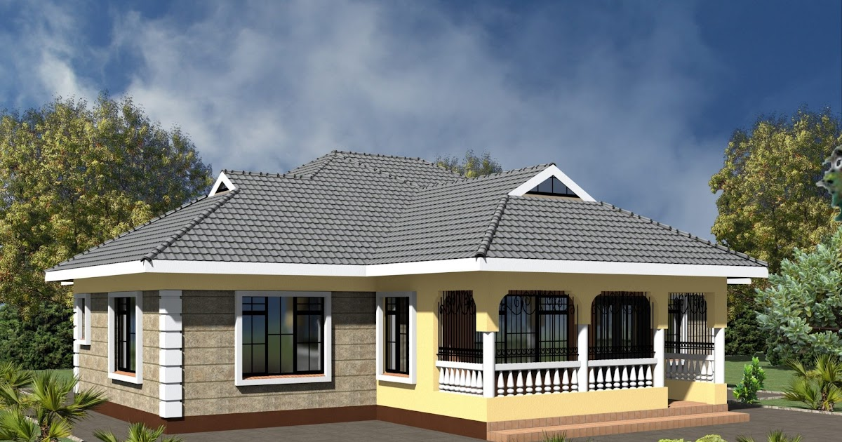 Famous Concept 36 Low Cost Simple 3, Modern 3 Bedroom House Plans In Kenya