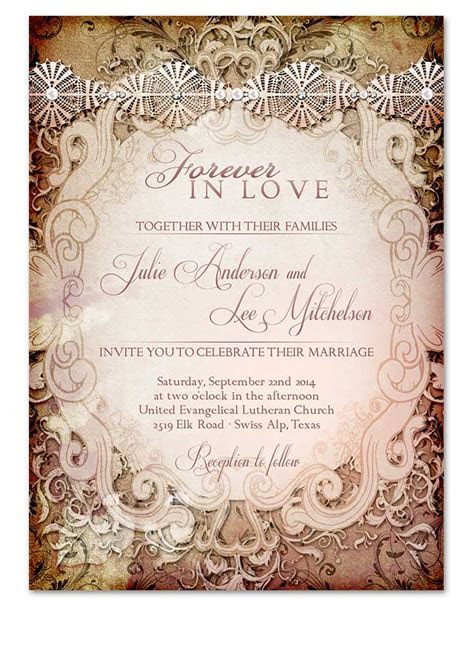 Vintage Storybook Wedding Invitation that never go out of