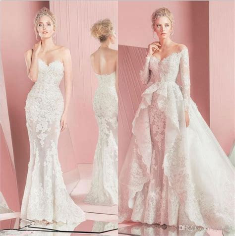 Zuhair Murad Mermaid Wedding Dresses 2015 Sweetheart Neck