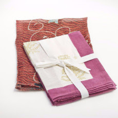 Block Print Napkins - Fuscia SALE $10.00