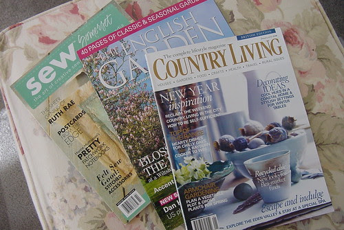 Birthday reading ~ beautiful magazines