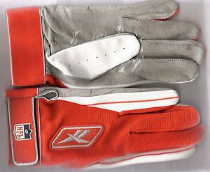 NFL Reebok Receiver Gloves sz.; XXL Orange / White / Gray  eBay