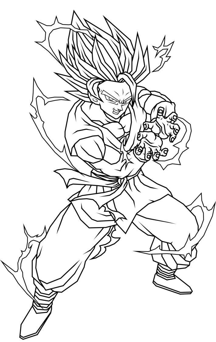 680 Colouring Pages Dragon Ball Gohan  Images