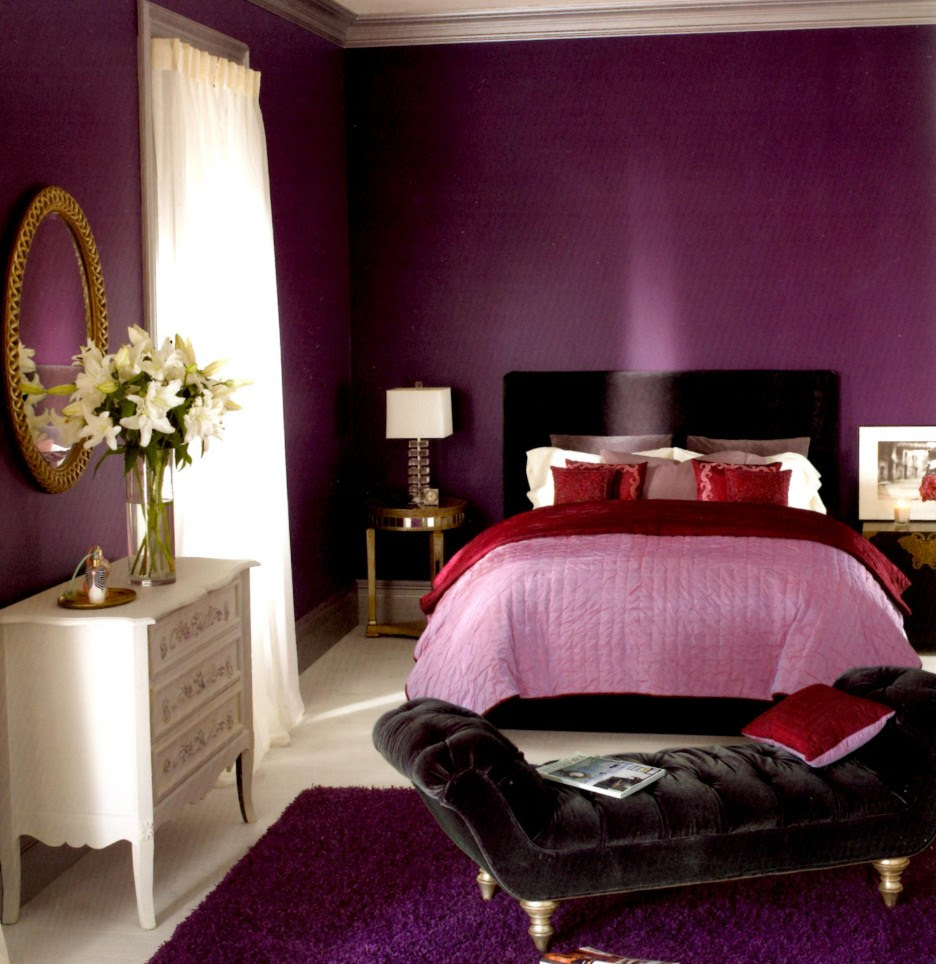 Bedroom: Luxurious Purple Color Applied In Tween Girl Bedroom ...