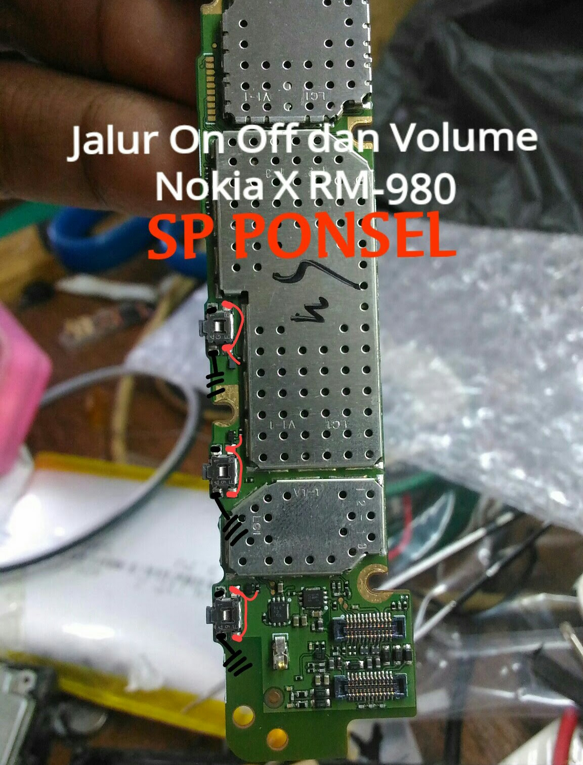 Nokia X RM-98 Volume Keys Not Working Problem Solution Jumpers