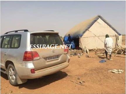 """"""" سيارة الراحل خلال تفقده لبعض المحاظر  فى الريف الموريتاني """""""