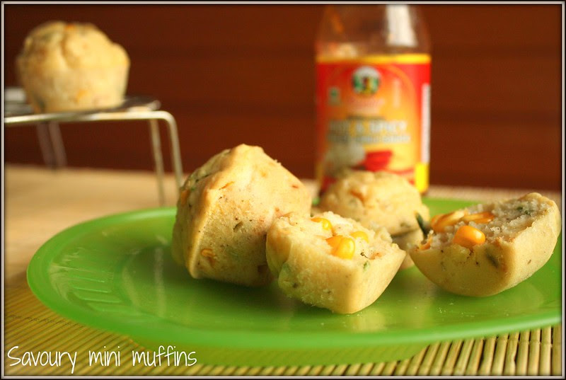 savoury muffins with a sweet chili sauce