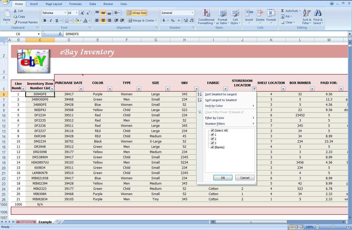 Example Of Spreadsheet Software