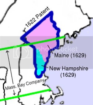 map of the American colony of Maine