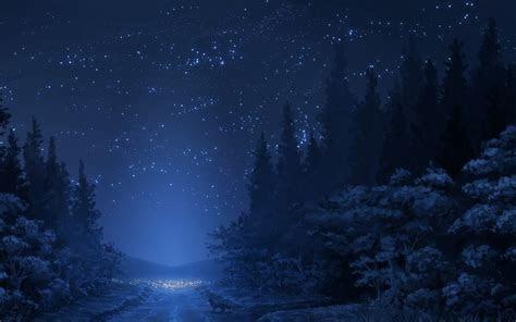 winter night sky mac wallpaper  allmacwallpaper