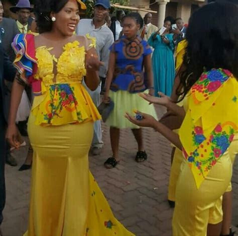 Bride In Tsonga and Sepedi Mixed Traditional Wedding Dress
