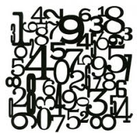 Numbers Collage stencil