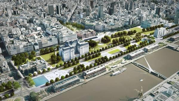 Render. El proyecto que transformará el perfil de Puerto Madero y el Bajo porteño y sumará verde en la Ciudad.