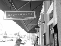 The Girl and the Fig - Front door