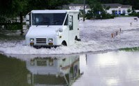 Photo of flooded road in US