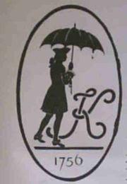 Anuncio de paraguas del siglo XVIII