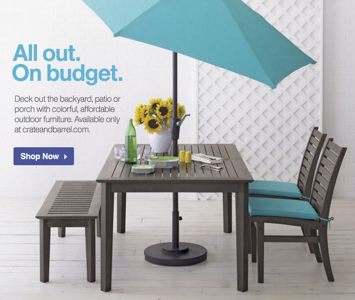 Crate and Barrel Email Newsletter: Get decked out on a budget with ...