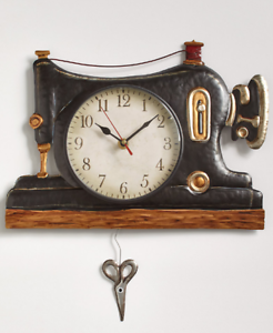 Home Garden Retro Wall Clock Old Fashioned Home Decor Kitchen Craft Sewing Telephone Mixer Home Decor