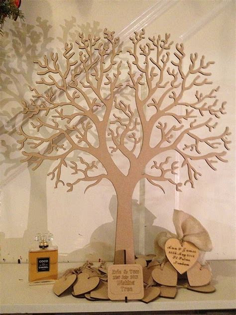 Wishing Tree Large Wooden Guest Book   BODAS   Guest book