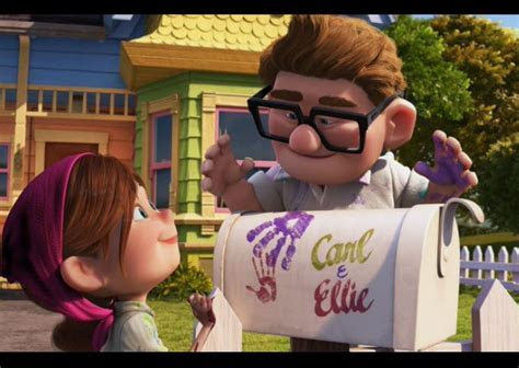 from movie   carl and ellie mailbox   Love and Marriage