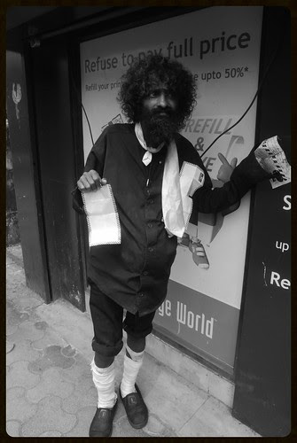 The Long Tie Beggar Of Bandra Hill Road by firoze shakir photographerno1