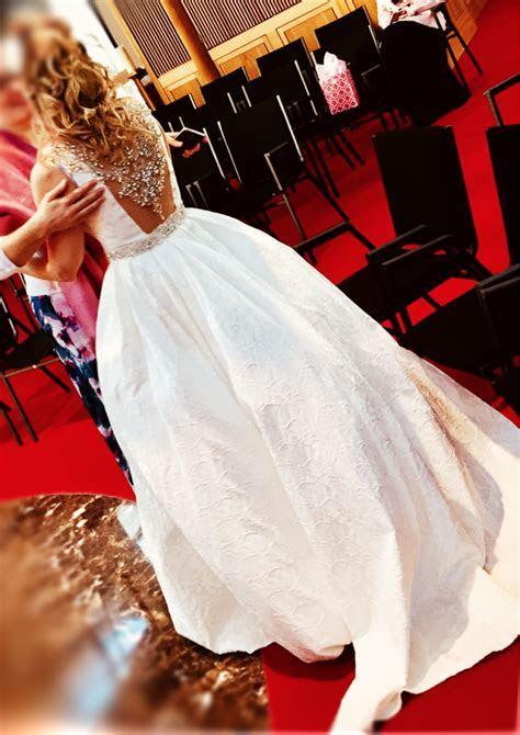Winter's wedding dress was among the donated items. (Jason