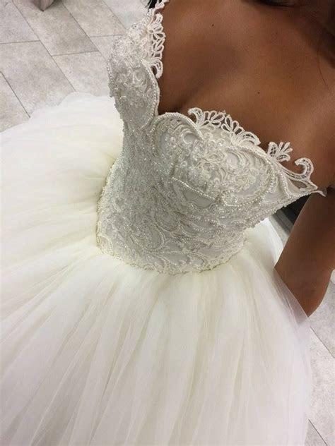 Gorgeous Sweetheart Beadings Princess Wedding Dress 2016