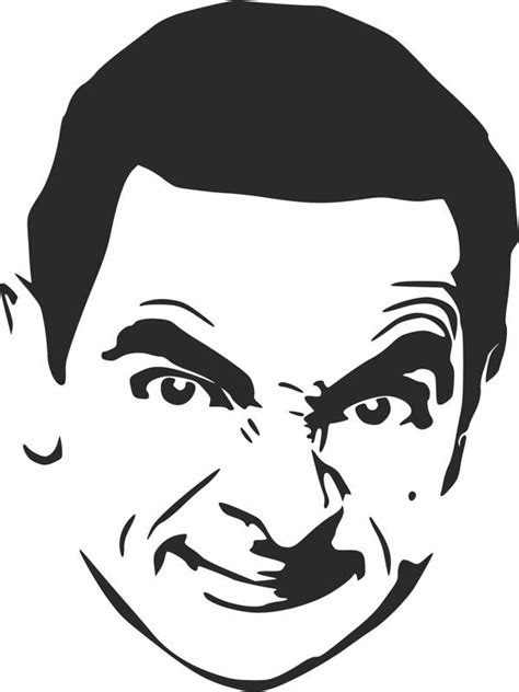 Mr. Bean Stencil dxf File Free Download   3axis.co