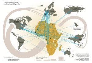 Interessi delle multinazionali del petrolio in Africa (clicca per ingrandire)