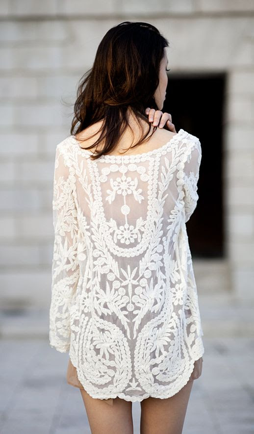 LE FASHION BLOG WHITE EMBROIDERED TOP SUMMER MUST HAVE SUMMER SPRING INSPIRATION THE FASHIONER NUDE ROMPER NUDE TAN SHORTS JUMPSUIT CROCHET LACE SHEER LAYERED LAYERS photo LEFASHIONBLOGEMBROIDEREDTOP.jpg