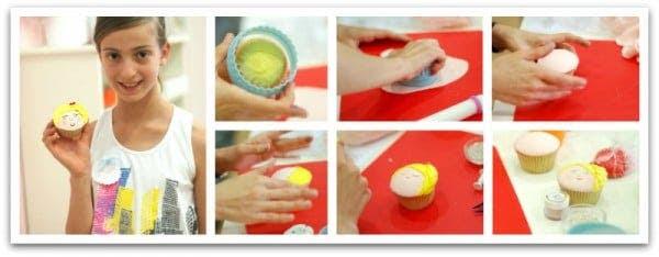 Decorando cupcakes con fondant