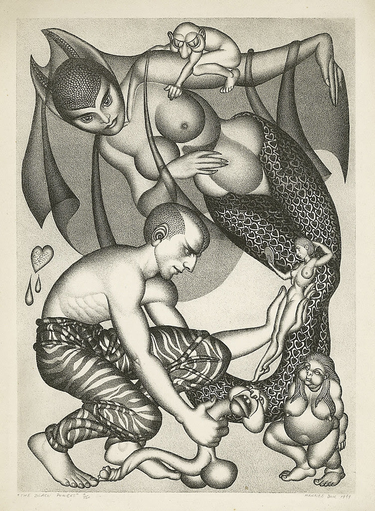"Hannes Bok - ""The White Powers"" Limited Edition Lithograph, #32/100 Original Art (1944)"