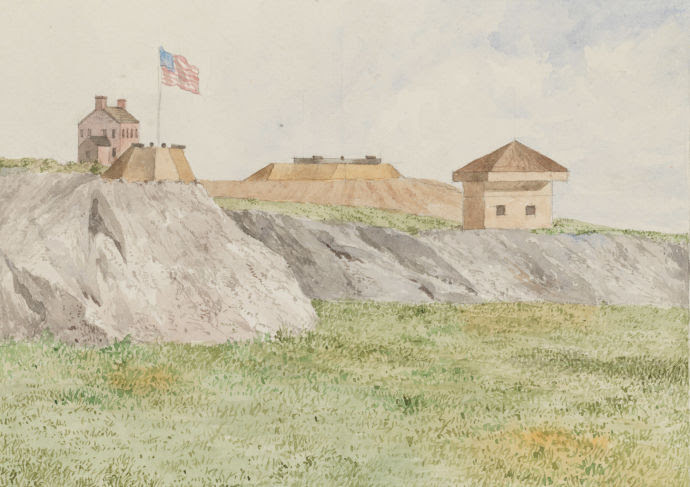 Fort Clinton, McGowan's Pass, 1814.